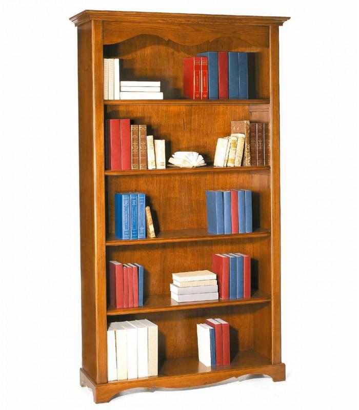 Libreria In Legno Noce.Libreria In Legno Classica 4 Ripiani Noce Spazio Casa