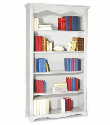 Libreria in legno classica 4 ripiani Bianco opaco