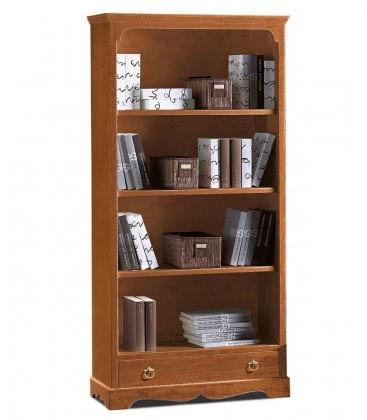 Libreria in legno classica 3 ripiani Noce