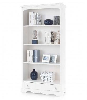 Libreria in legno classica 3 ripiani Bianco Opaco