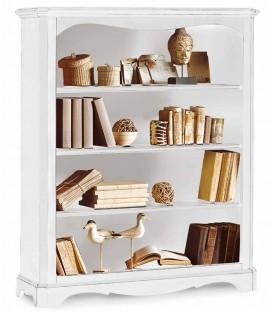 Libreria in legno zoccolo aperto Bianco Opaco