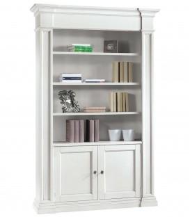 Libreria 2 porte 4 vani in legno Bianco Opaco