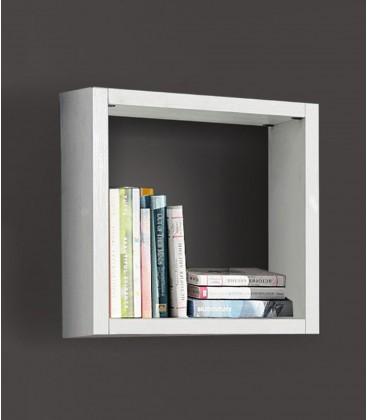 Libreria cubo in legno Bianco frassinato