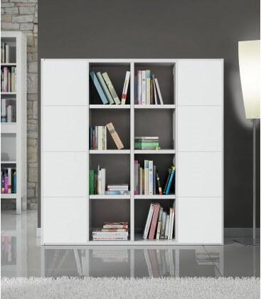 Parete in legno moderna Bianco Frassinato 175