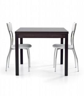Tavolo legno quadrato apertura a libro Rovere Wengé