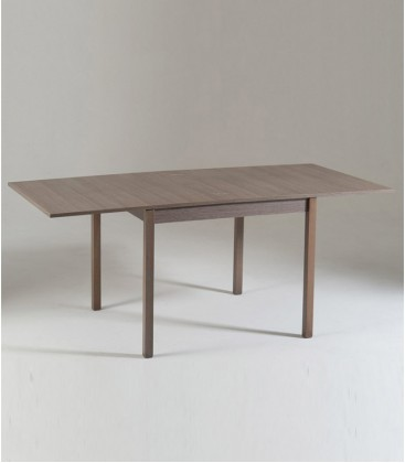Tavolo legno quadrato apertura a libro Rovere Grig