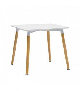 Tavolo quadrato gambe in legno Bianco
