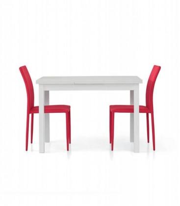 Tavolo rettangolare allungabile moderno Bianco frassinato