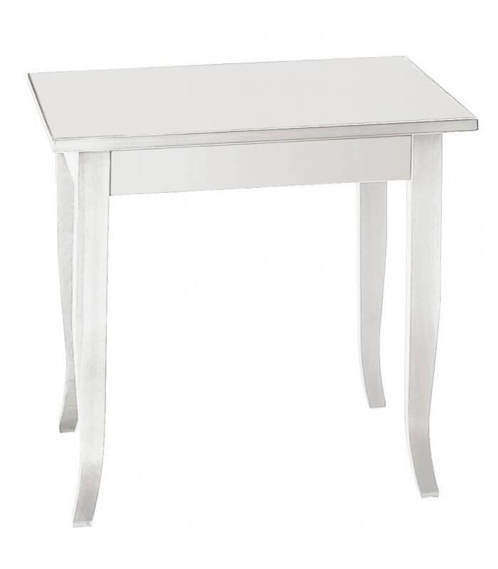 Gambe A Sciabola Per Tavoli.Tavolo Legno Quadrato Bianco Piedi A Sciabola Spazio Casa