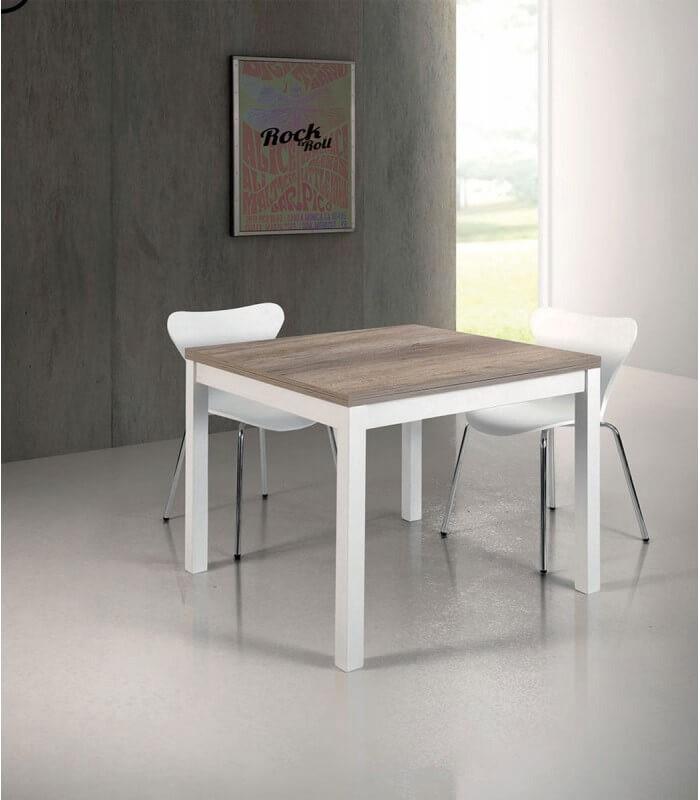 Tavolo Moderno a Libro Bianco e Rovere Primitivo