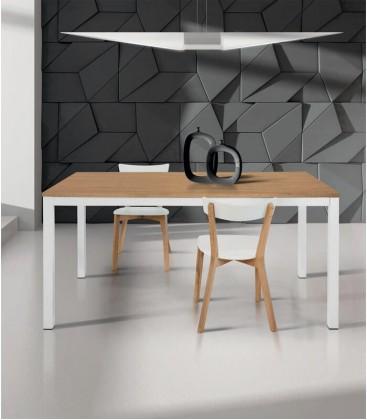 Tavolo moderno allungabile bianco naturale