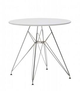 Tavolo Rotondo di Design Moderno Bianco