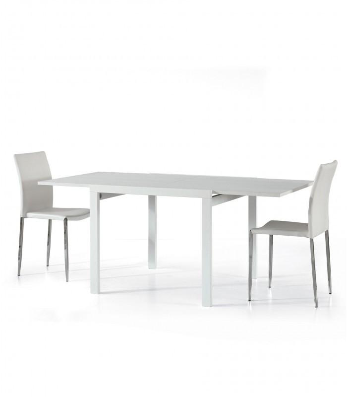 Tavolo Quadrato Allungabile Bianco Frassinato