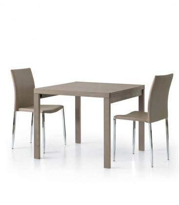 Tavolo moderno allungabile quadrato Tortora