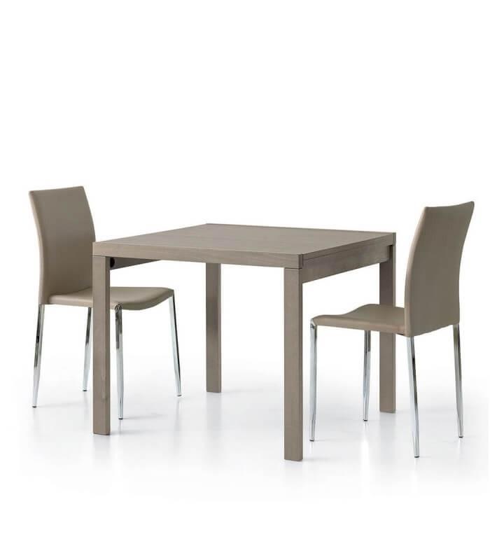 Tavolo Moderno Allungabile Quadrato Tortora Spazio Casa