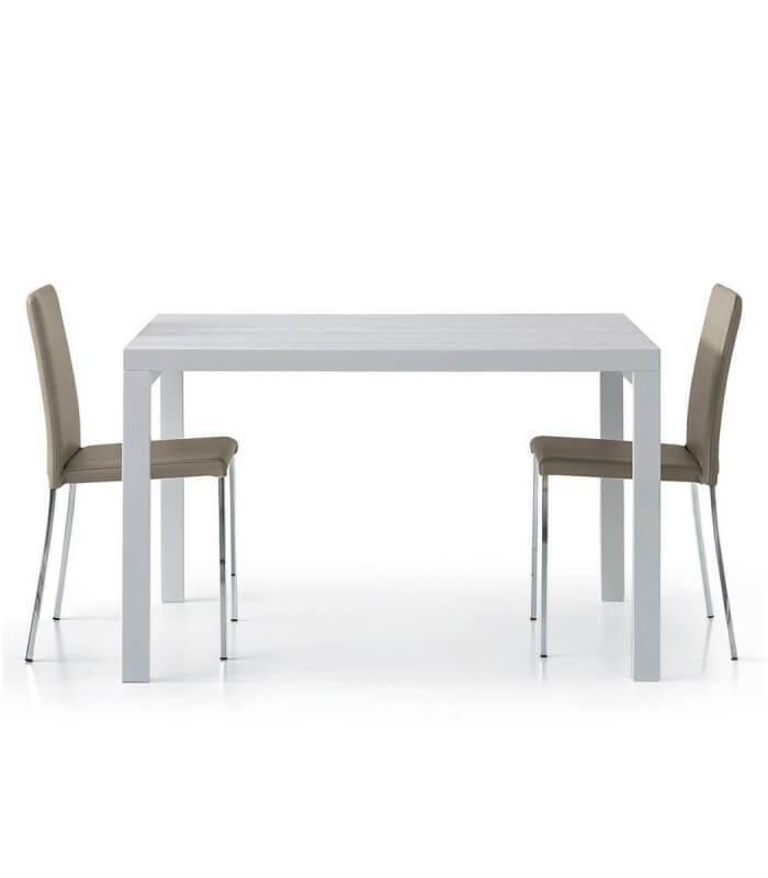 Tavolo Bianco Moderno.Tavolo Allungabile Bianco Moderno Spazio Casa