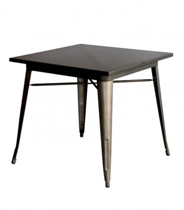 Tavolo in ACCIAIO quadrato Nero