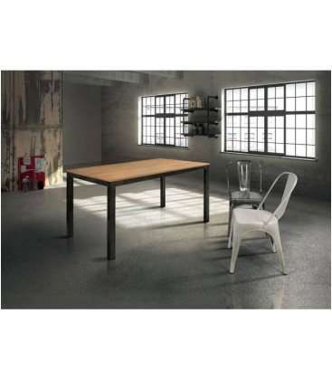Tavolo in legno naturale struttura in metallo