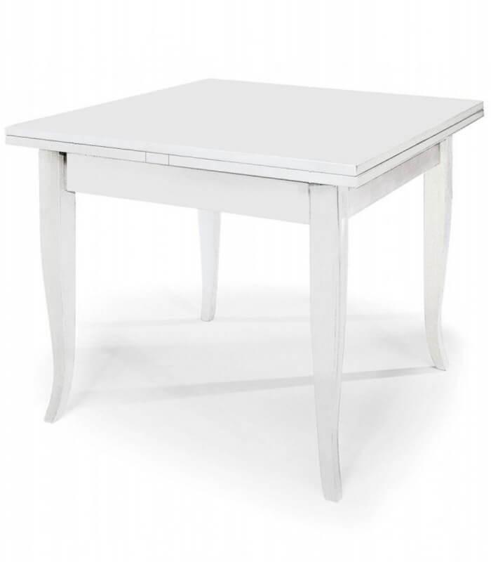 Gambe A Sciabola Per Tavoli.Tavolo Quadrato Allungabile Piedi A Sciabola Bianco Spazio Casa