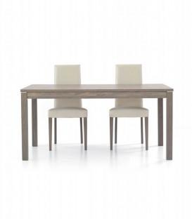 Tavolo Rettangolare 160 x 90 Allunghe Centrali Rovere Grigio
