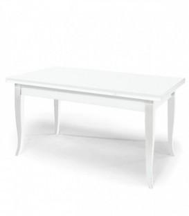 Tavolo Legno Rettangolare 180x90 Allungabile Bianco