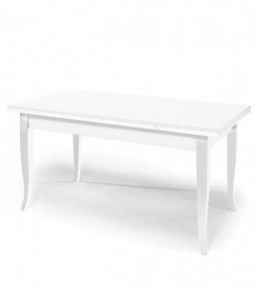 Tavolo legno allungabile design classico Bianco Opaco