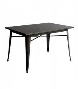 Tavolo rettangolare in metallo Nero