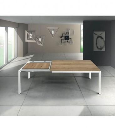 Tavolo in metallo moderno Naturale Rovere