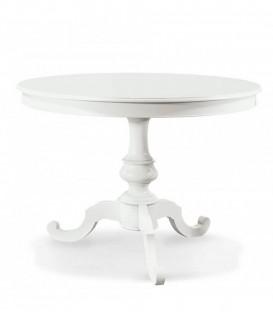 Tavolo in legno allungabile rotondo Bianco Opaco