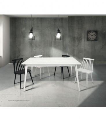 Tavolo in Legno design moderno allungabile Bianco