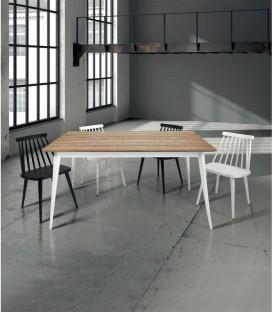 Tavolo di Design in Legno Allungabile Abete Spazzolato Bicolore