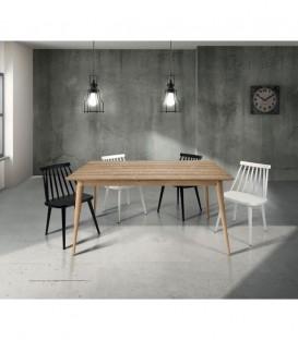 Tavolo di Design in Legno Allungabile Abete Spazzolato Naturale