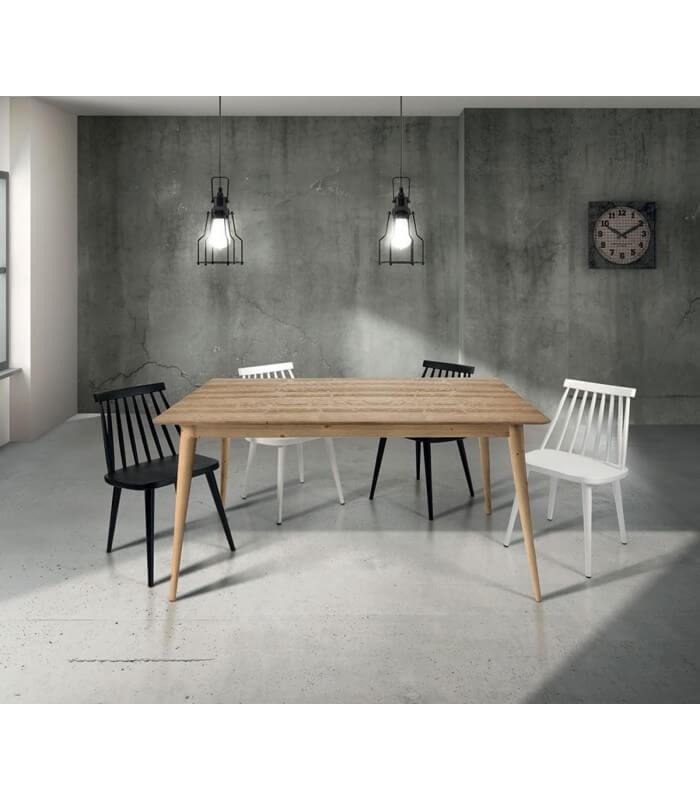 Tavolo Design Legno Naturale.Tavolo Di Design In Legno Allungabile Abete Spazzolato Naturale