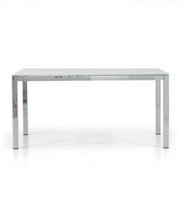 Tavolo rettangolare allungabile con piano in vetro