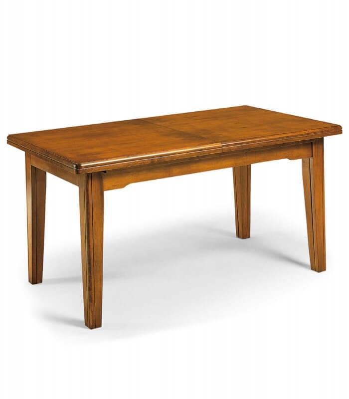 Tavolo da Pranzo Classico Allungabile in Legno Noce ...