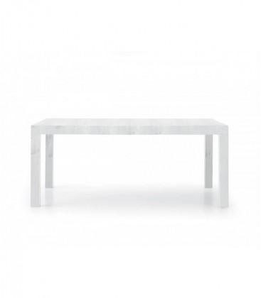 Tavolo in legno rettangolare Bianco Consumato