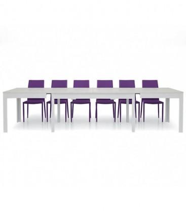 Tavolo in legno allungabile moderno Bianco frassinato