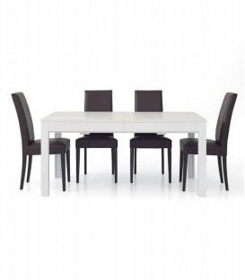 Tavolo da Pranzo Allungabile a +3 metri Moderno Bianco Frassinato