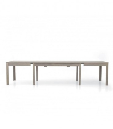 Tavolo in legno allungabile moderno Rovere Grigio
