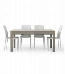 Tavolo da Pranzo Allungabile a +3 metri Moderno Rovere Grigio