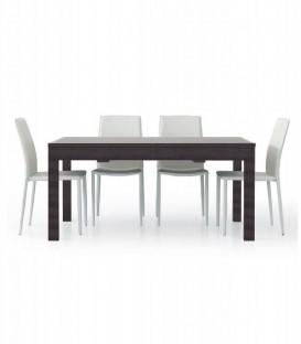 Tavolo da Pranzo Allungabile a +3 metri Moderno Moro Wengé