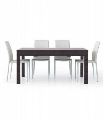Tavolo in legno allungabile moderno Wengé