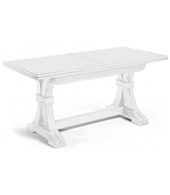 Tavolo Sala Da Pranzo Classico In Legno Bianco Gambe A Y Spazio Casa