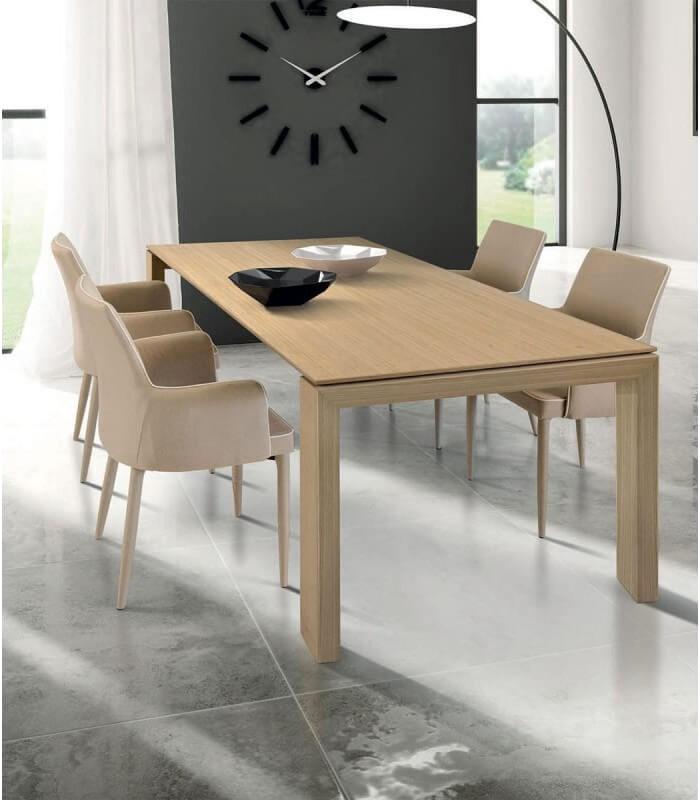 Tavolo Design Moderno in Legno Rovere Chiaro - Spazio Casa