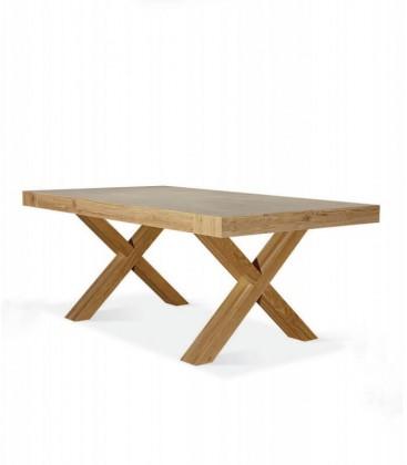 Tavolo in legno base X Naturale