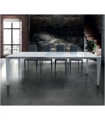 Tavolo vetro design moderno Bianco