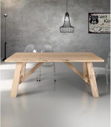 Tavolo in legno di design Fisso Naturale