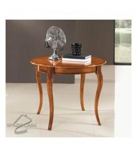 Tavolo tondo in legno allungabile