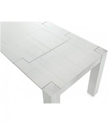 Tavolo da Pranzo Legno Abete Bianco