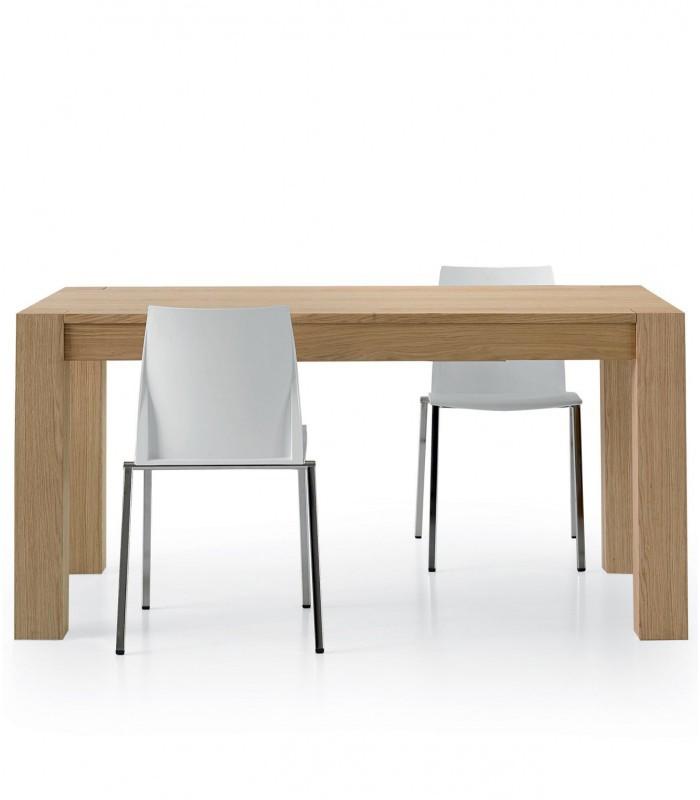Tavolo in legno rovere naturale allungabile spazio casa for Tavolo allungabile rovere